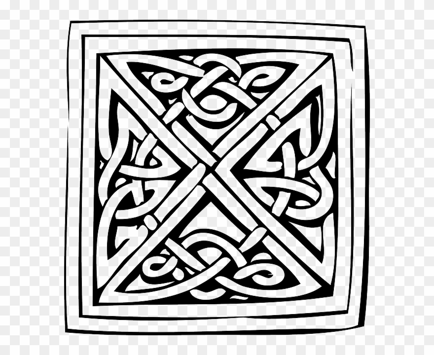 Celtic Knots Coloring Book Clipart Celtic Knot Ornament.