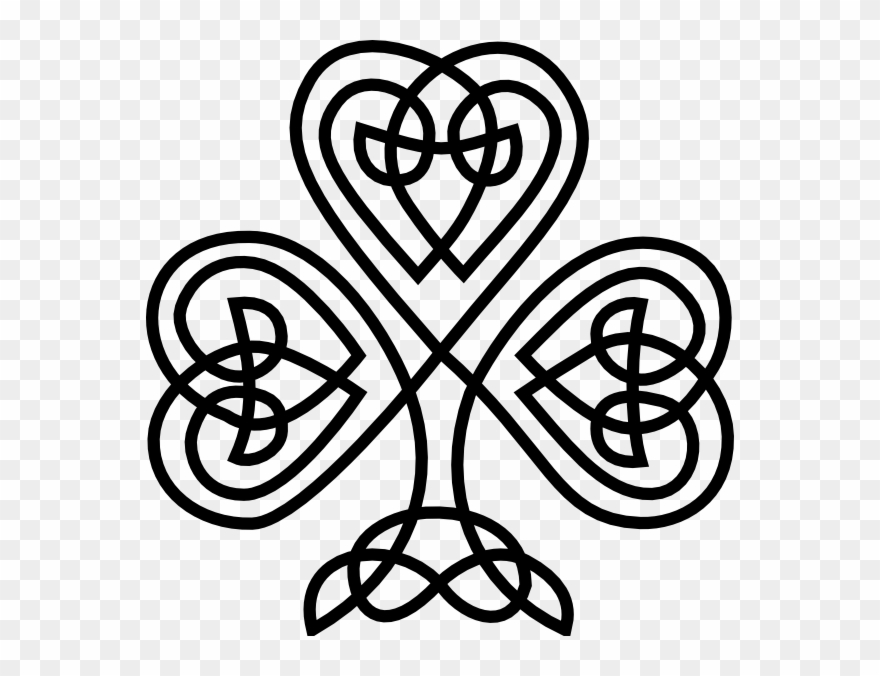 Celtic Knot Irish Shamrock Clipart (#8191).