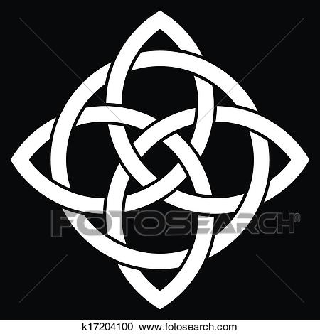 Beautiful 4 point Celtic knot Clipart.