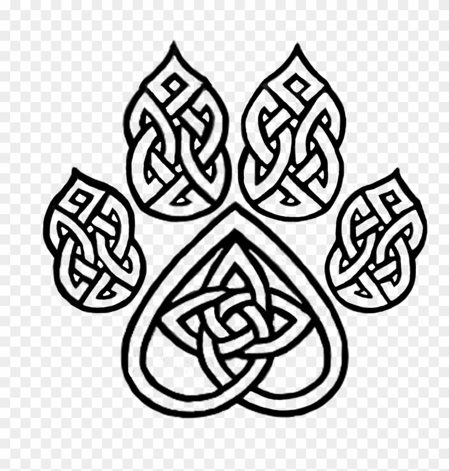 Celtic Knot Dog Paw.
