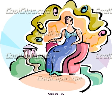 Greek goddess clipart.