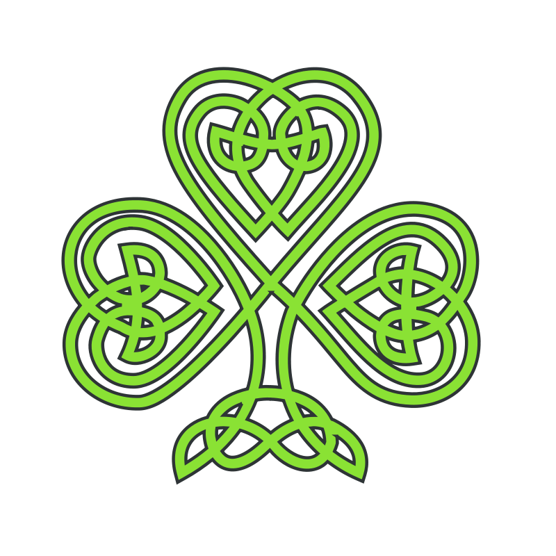 Free Clipart: Celtic shamrock.