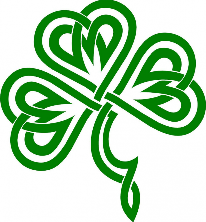 Cuisine Irish Ireland Clover Celtic Shamrock Knot Vector, Clipart.
