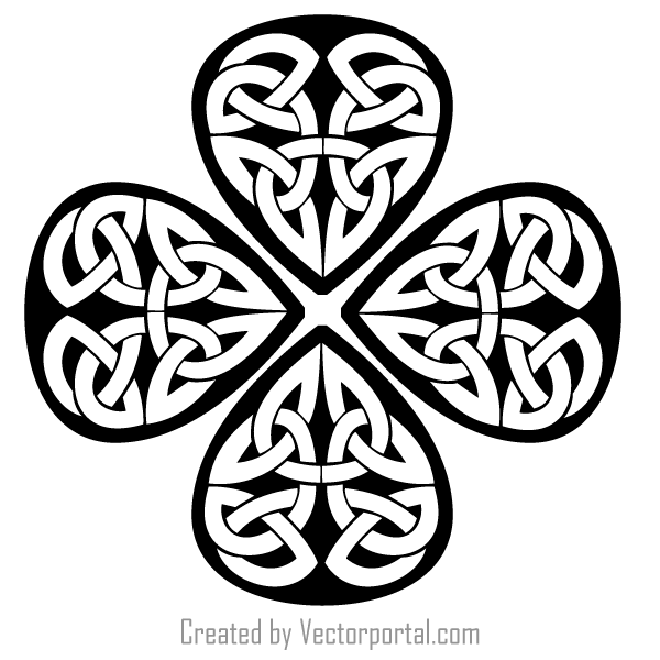 Celtic Shamrock Clip Art.