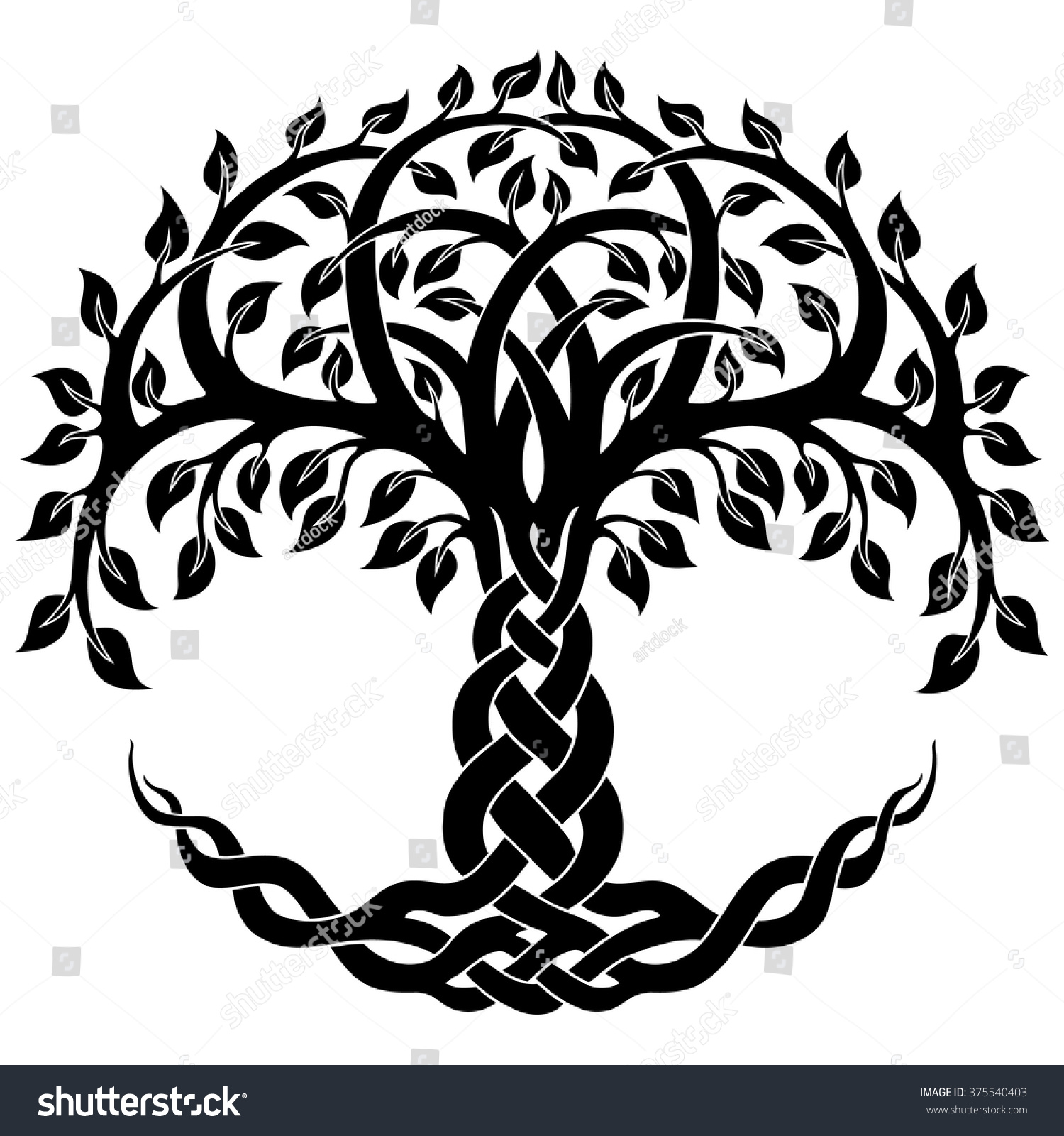 Vector Ornament Decorative Celtic Tree Life Stock Vector (Royalty.
