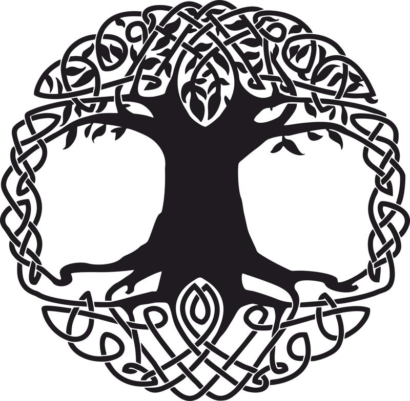 Celtic Tree Tattoo Design Free Vector Cdr Free Download.