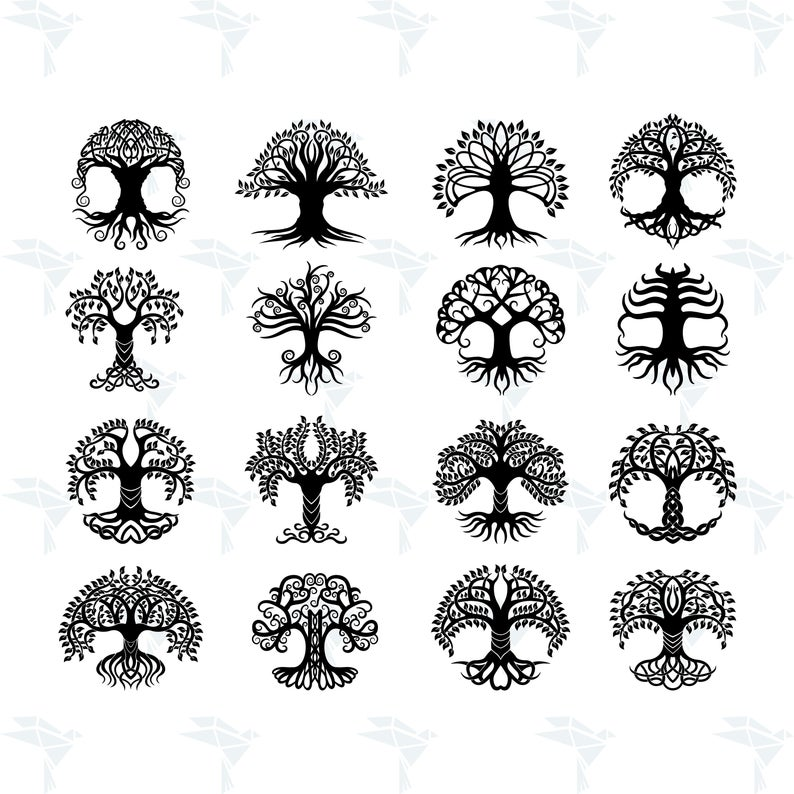 Celtic Tree Silhouette SVG, Clipart, Cricut Design, Printing,Silhouette,  Cut files and more, Digital download Svg, Png, Dxf Player.