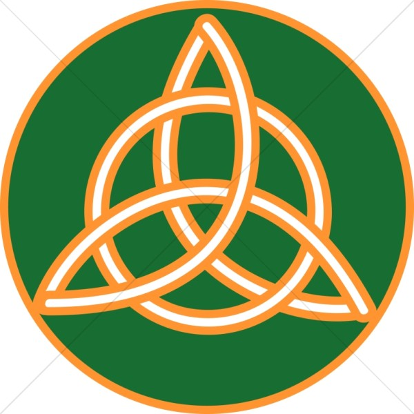 Gold Trimmed Celtic Trinity Knot.