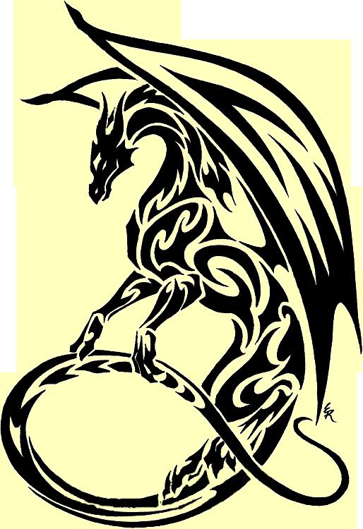 Tribal Dragon Clipart Best.