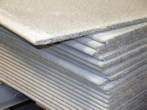 Cement board.