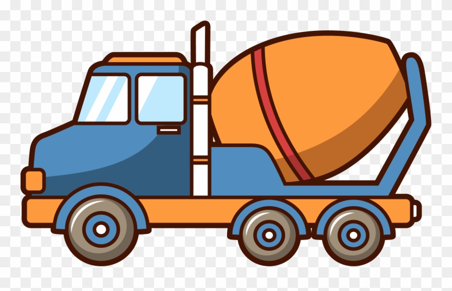 Car Concrete Mixer Truck Architectural Engineering.