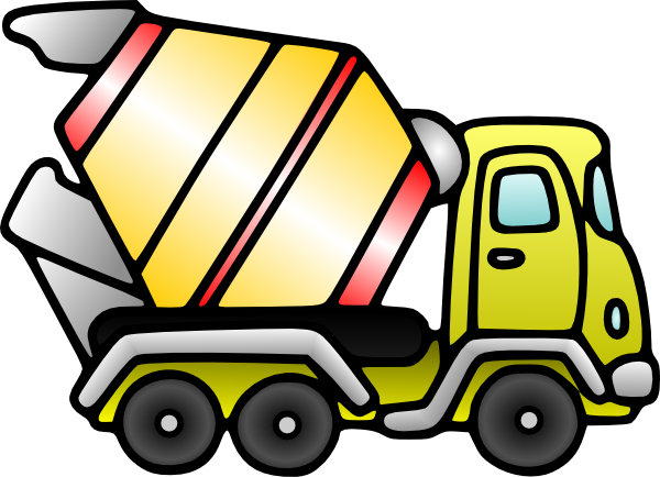 Cement Mixer Truck Clipart.