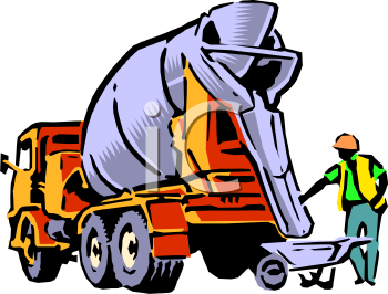 Cement Mixer Truck Clip Art.