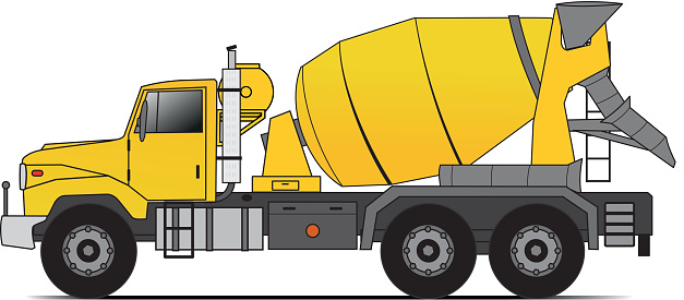 Cement Mixer Clip Art.