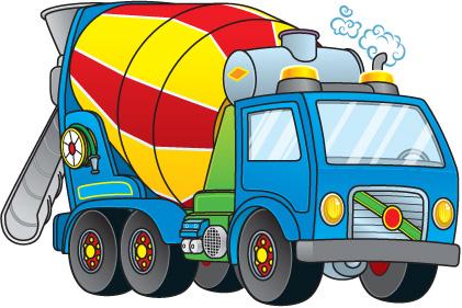 Cement Truck Clipart.