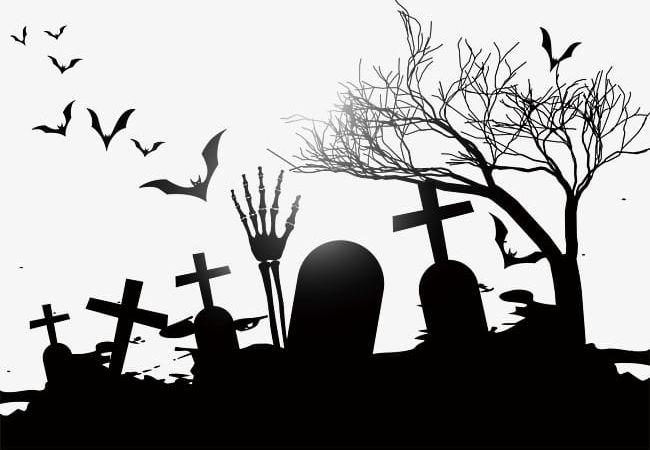 Cemetery PNG, Clipart, Bat, Black, Bones, Cemetery, Cemetery.