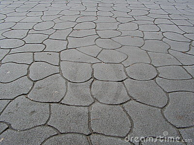 Cemented Pavement Royalty Free Stock Photos.