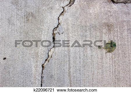 Stock Photography of Cracked Cemented Wall k22096721.