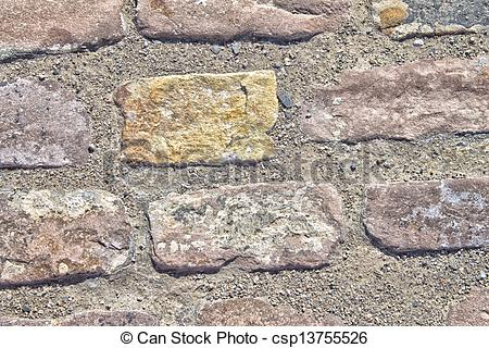 Stock Photo of Cemented Bricks Texture.