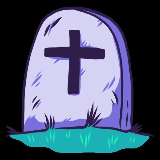 Icono Halloween, tumba, cementerio, de piedra, rip, de la cruz.