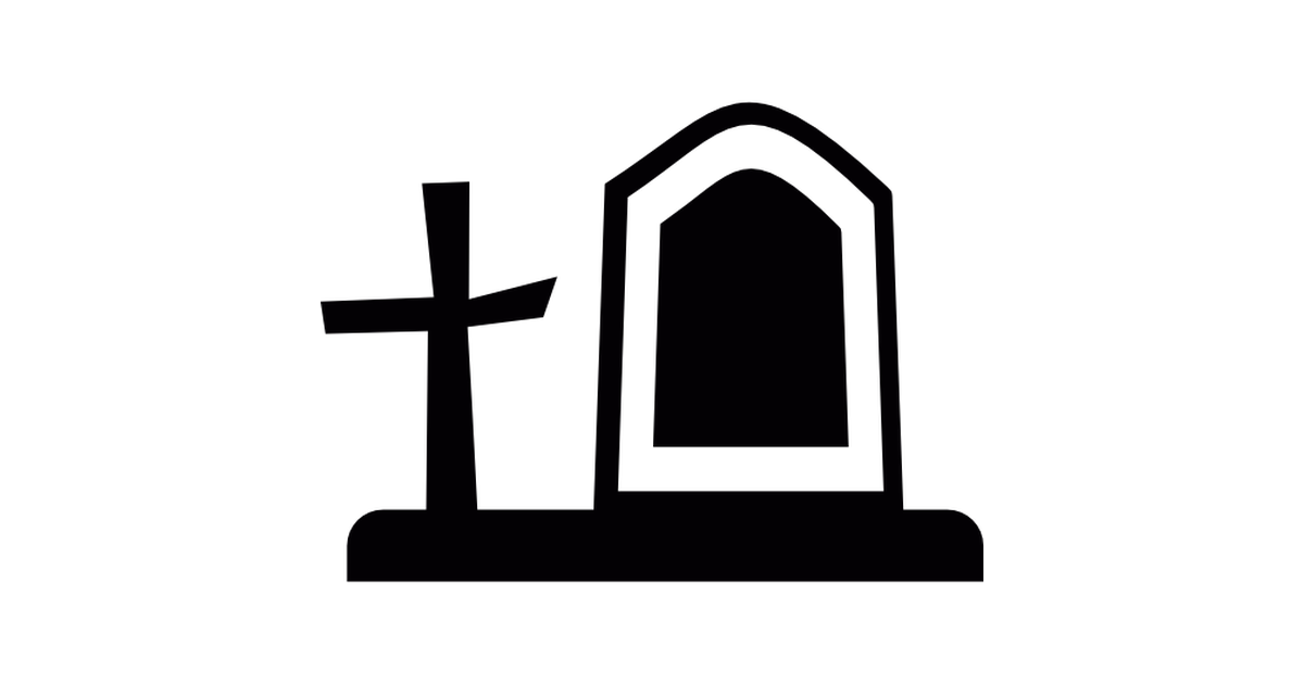 Cemetery Tombstone and Cross.
