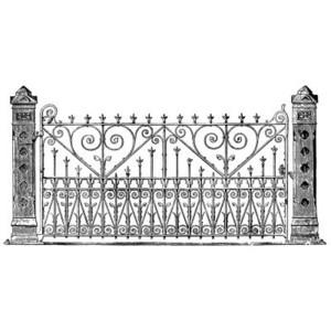 Cemetery gate clipart #20