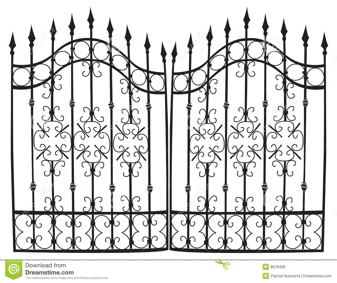 Iron Gate Full Vector Royalty Free Stock Image.