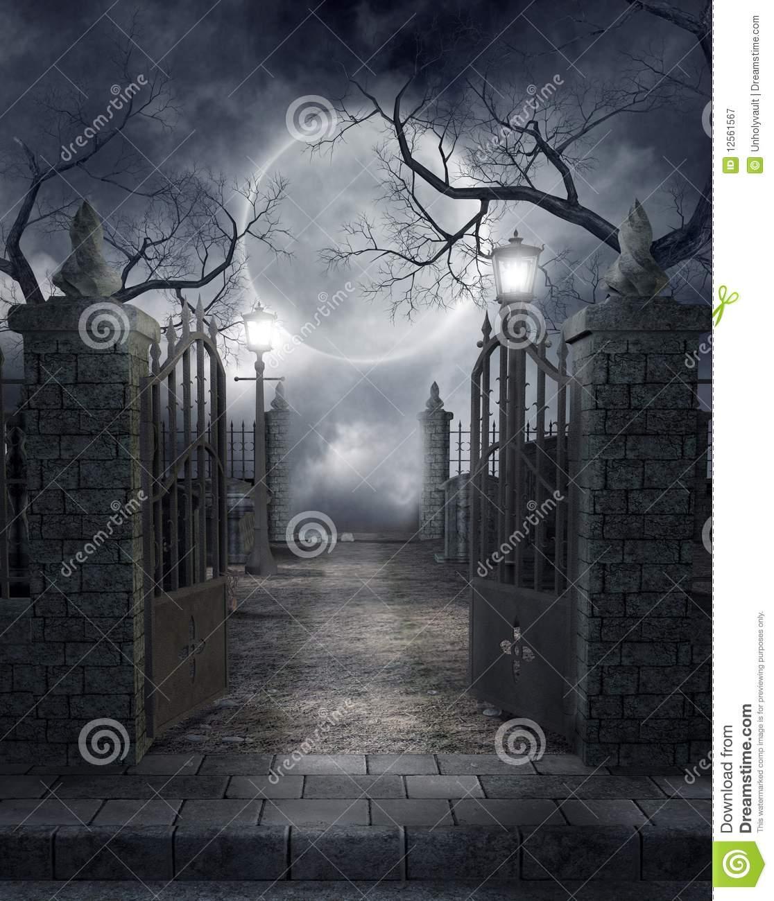 Gothic Graveyard Clipart.