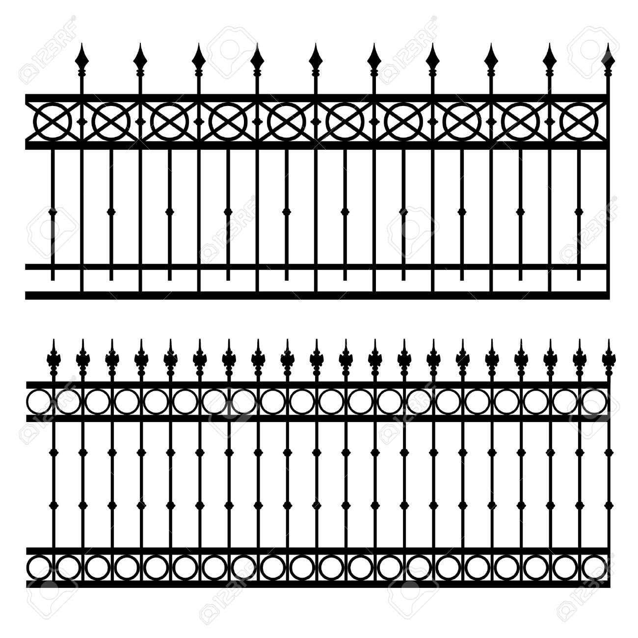 Iron Fence Vector Illustration Royalty Free Cliparts, Vectors, And.