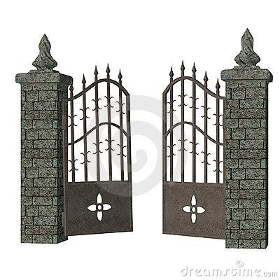 Cemetery gate clipart #16