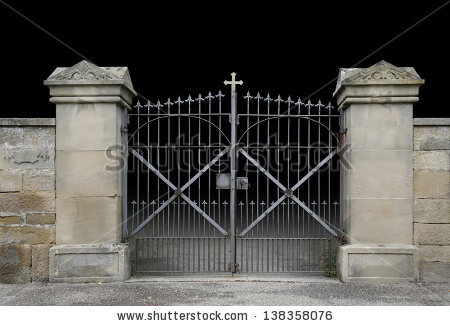 Cemetery Gate Stock Images, Royalty.