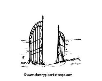 Cemetery gate clipart.