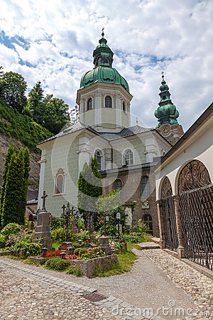 St Peter Cemetery Salzburg Stock Photo.