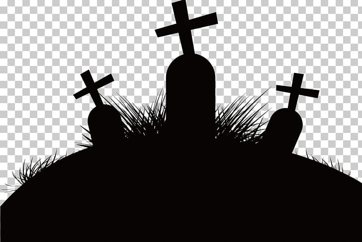 Silhouette Cemetery PNG, Clipart, Black, Black And White, Brand.