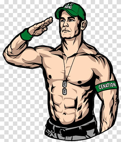 John Cena , John Cena illustration transparent background.