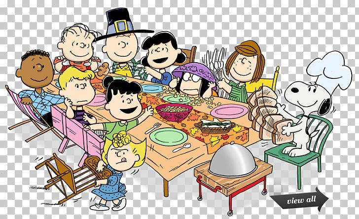 Snoopy charlie brown cacahuetes de acción de gracias, cenar.