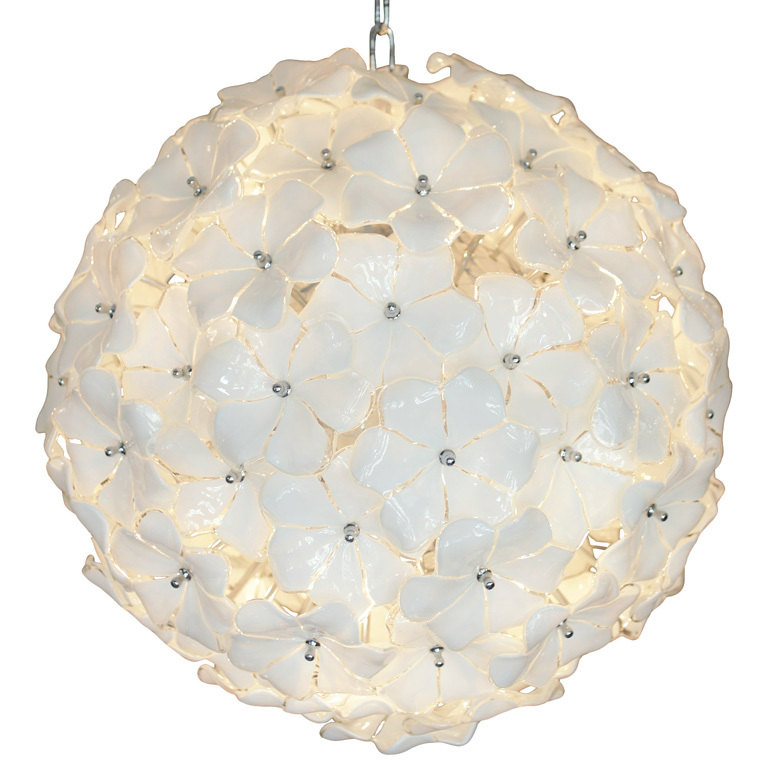 Murano glass chandelier : Mid Century design Lotus by studioitaly.