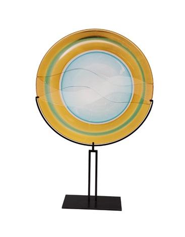 Huge glass plate Battuto by Gino Cenedese on artnet.