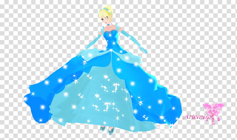 MMD Cenicienta o Cinderella transparent background PNG.