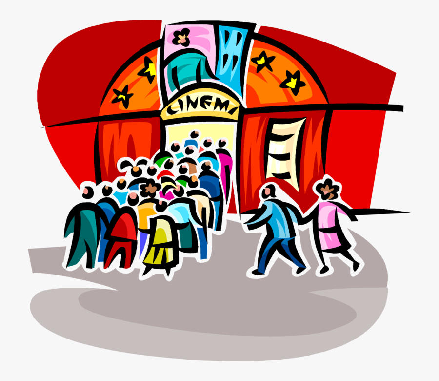 Vector Illustration Of Cinema Movie Theatre Or Theater.