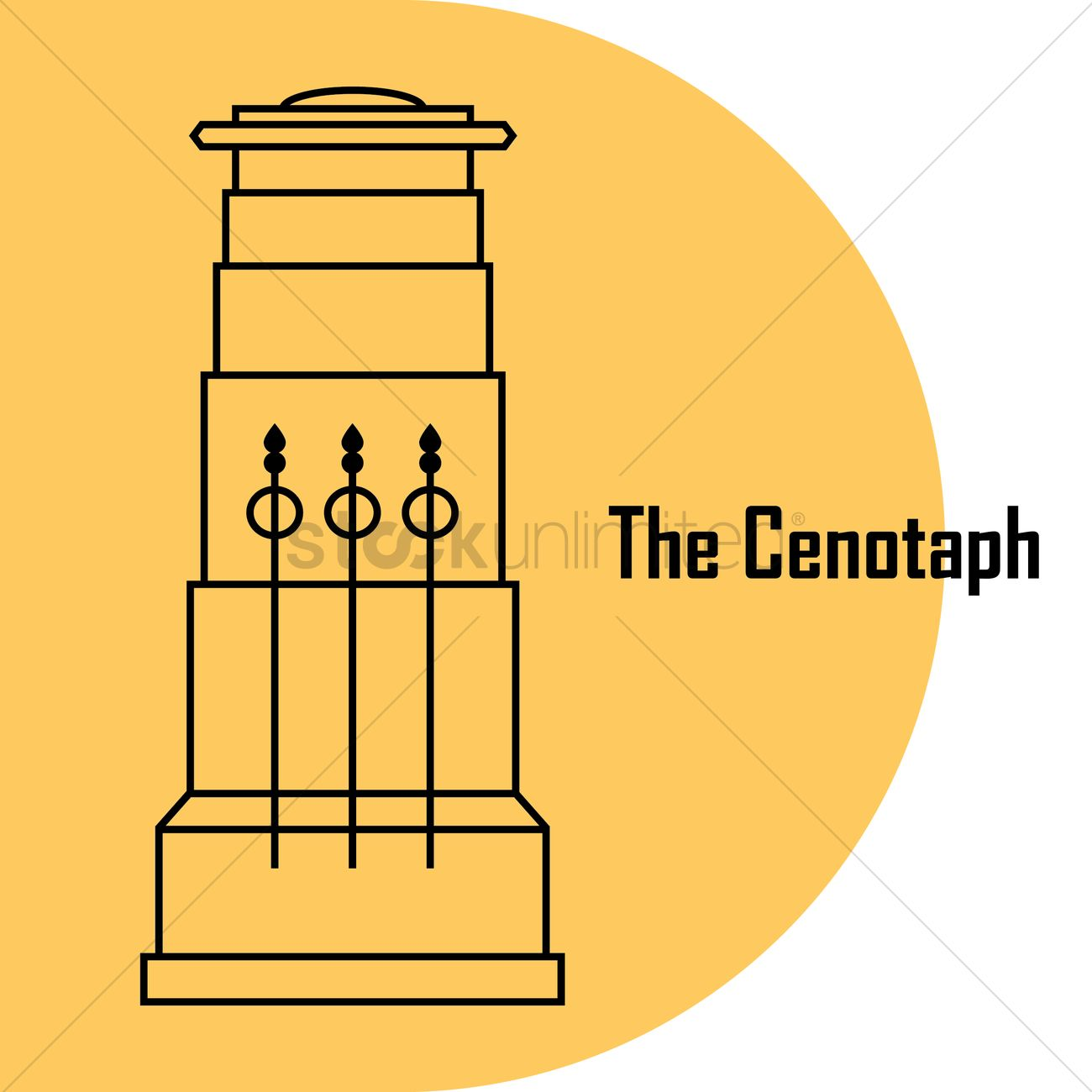 The cenotaph Vector Image.