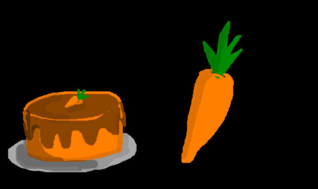 Bolo de cenoura.
