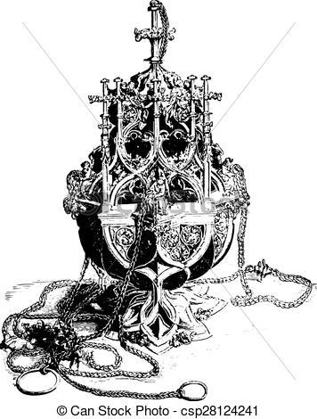 EPS Vector of Censer, vintage engraving..