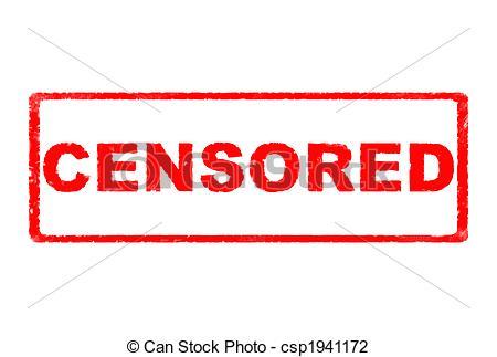 Clip Art of Censored Rubber Stamp.