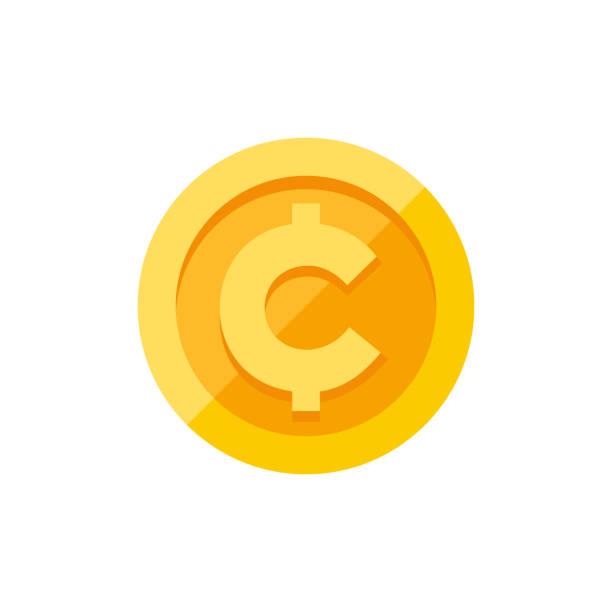 Best Cent Symbol Illustrations, Royalty.