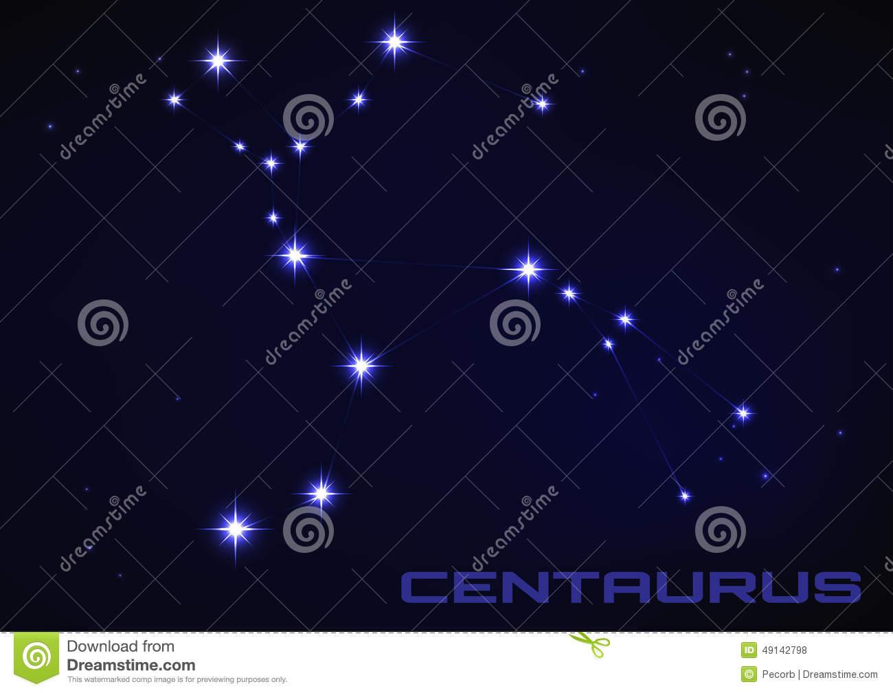 Centaurus constellation clipart #14
