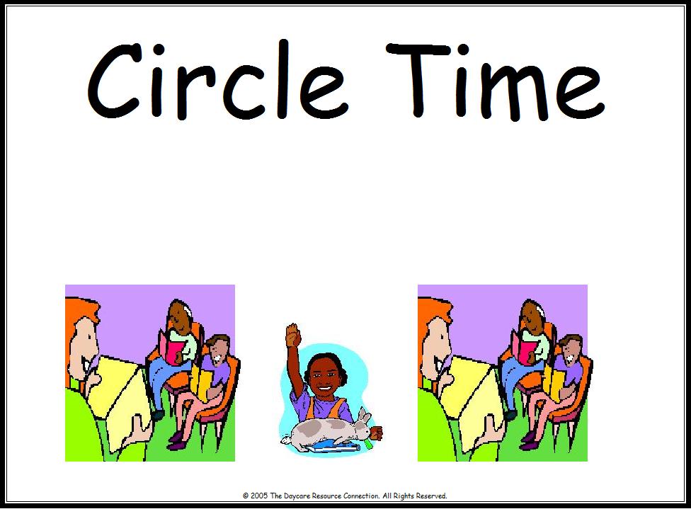 Center Circle Time Clipart.