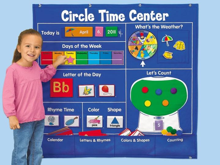 Calendar circle time clipart.