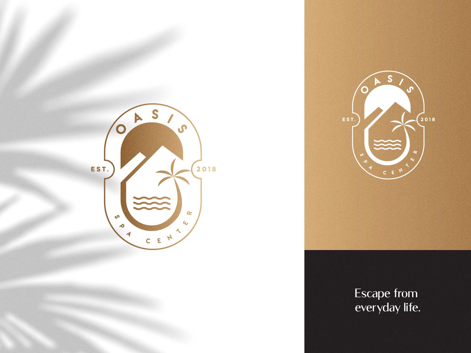 Oasis Spa Center logo by Danilo Mitrovic on Dribbble.