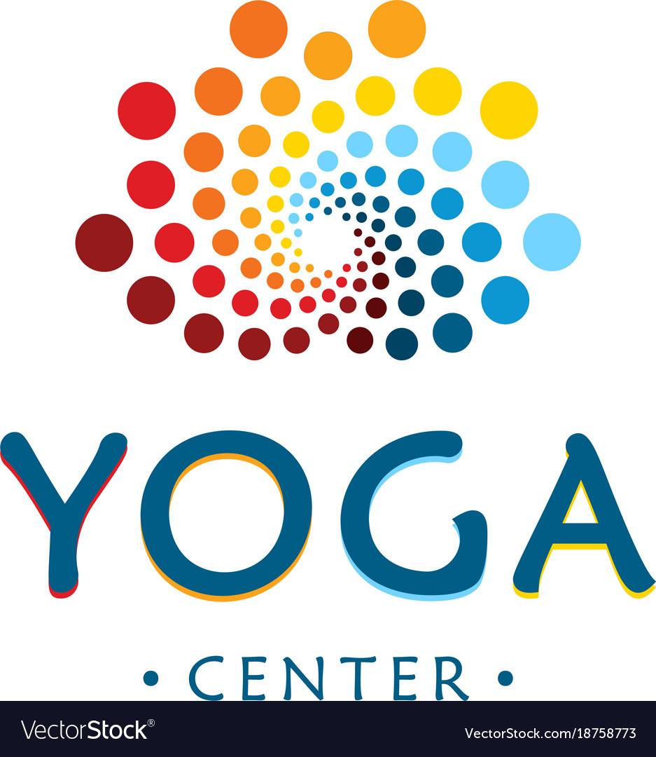 Yoga center logo abstract lotus beauty flower.